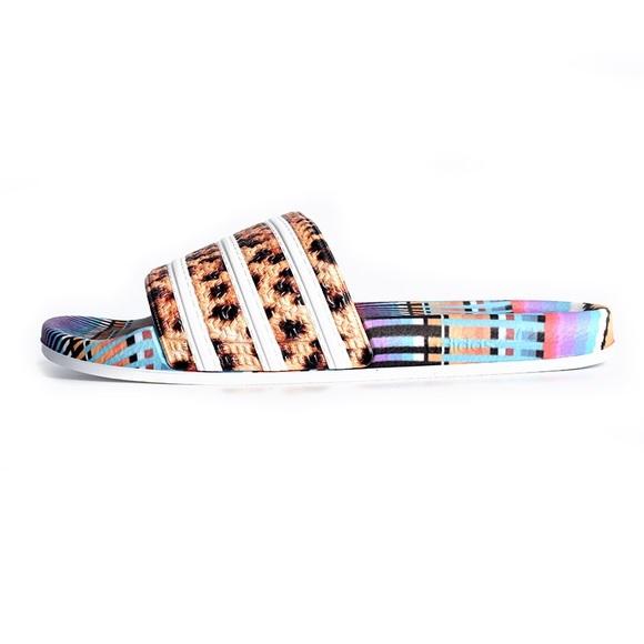 aeaa4b40a40e adidas Shoes | Originals Adilette Leopard Ethnic Slide 8 | Poshmark